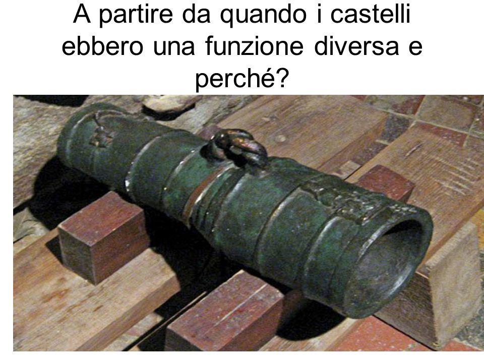 A partire da quando i castelli ebbero una funzione diversa e perché?