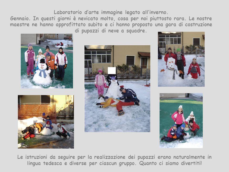 Laboratorio darte immagine legato allinverno. Gennaio. In questi giorni è nevicato molto, cosa per noi piuttosto rara. Le nostre maestre ne hanno appr