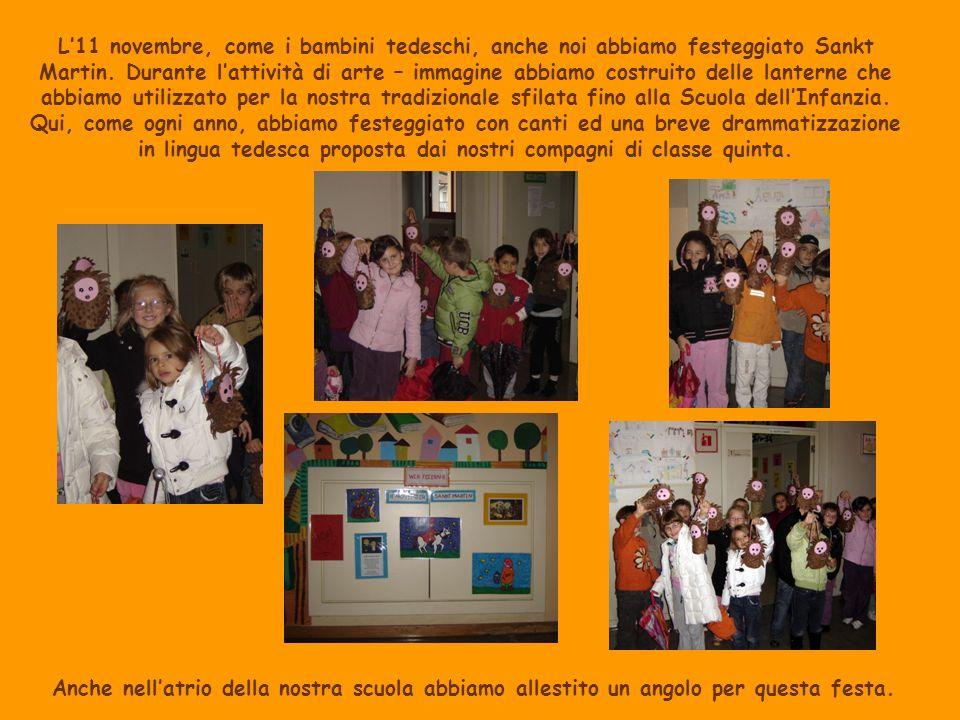 L11 novembre, come i bambini tedeschi, anche noi abbiamo festeggiato Sankt Martin. Durante lattività di arte – immagine abbiamo costruito delle lanter