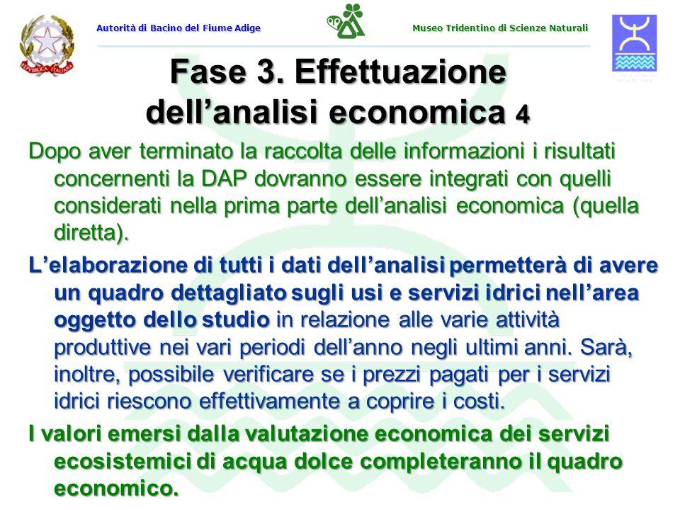 Fase 3. Effettuazione dellanalisi economica 4 Dopo aver terminato la raccolta delle informazioni i risultati concernenti la DAP dovranno essere integr