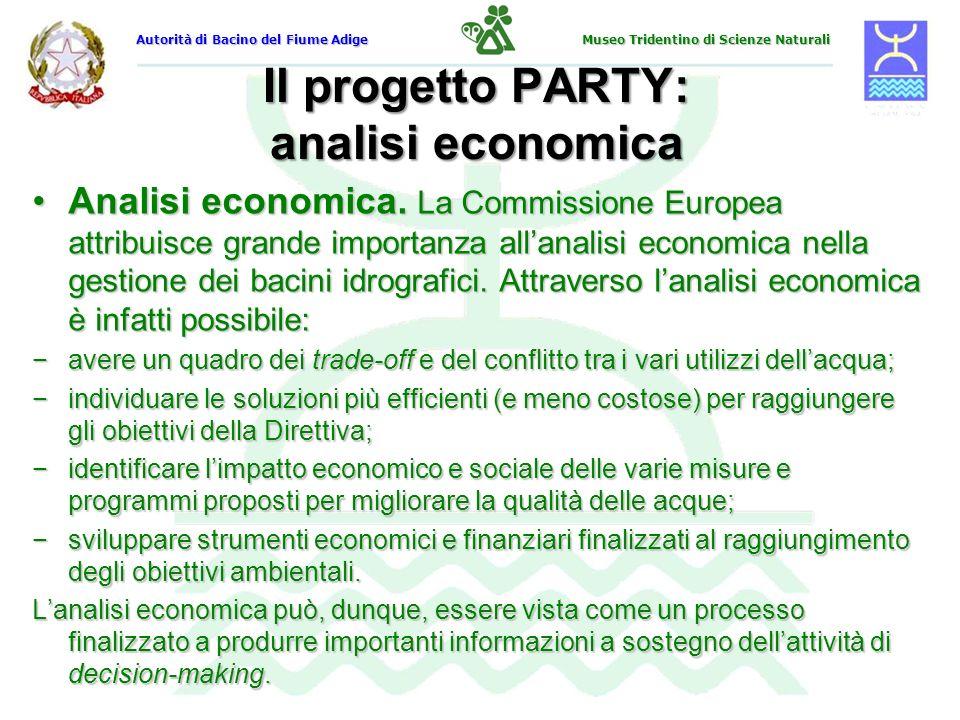 Il progetto PARTY: analisi economica Analisi economica. La Commissione Europea attribuisce grande importanza allanalisi economica nella gestione dei b