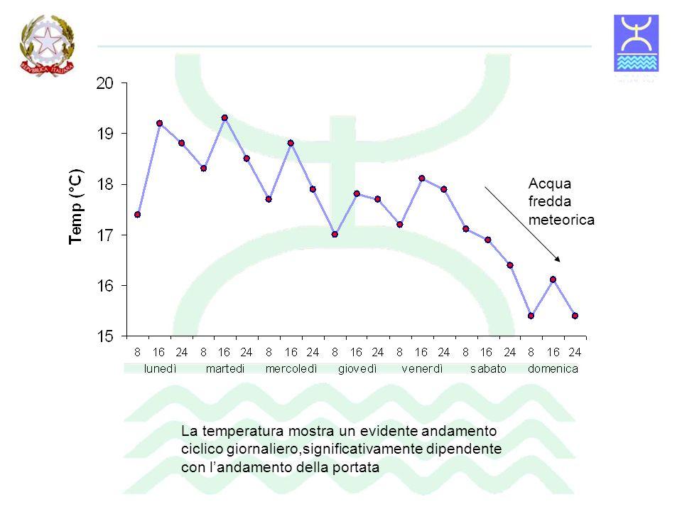 fotosintesi Nei momenti di bassa portata il pH è influenzato dallattività fotosintetica del fitoplancton La conducibilità risulta influenzata dallandamento della portata e dallimmissione di acqua proveniente da altre fonti.