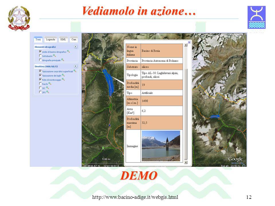 http://www.bacino-adige.it/webgis.html12 Vediamolo in azione… DEMO