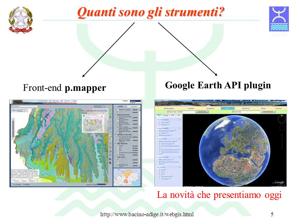 http://www.bacino-adige.it/webgis.html6 p.mapper è un front-end OpenSource user friendly che si interfaccia al motore di rendering MapServer.