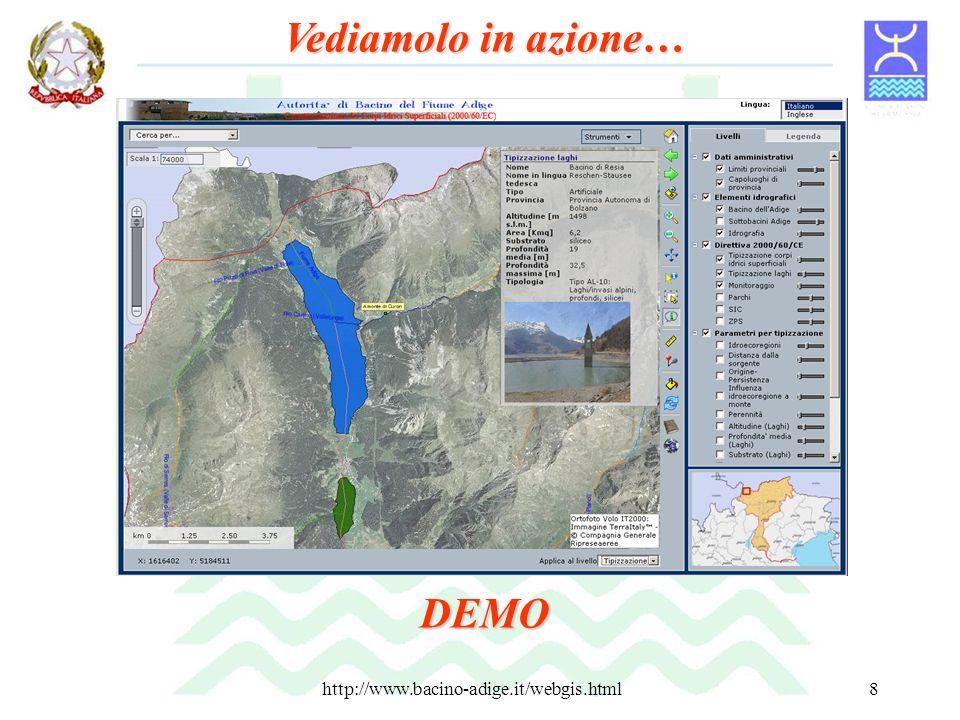 http://www.bacino-adige.it/webgis.html8 Vediamolo in azione… DEMO