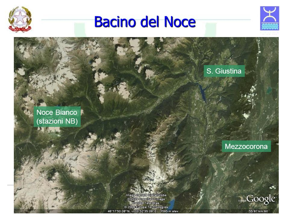 Bacino del Noce Noce Bianco (stazioni NB) S. Giustina Mezzocorona