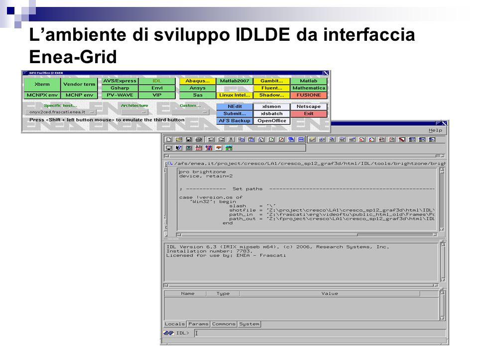 4 ENEA-CRESCO Marta Chinnici Lambiente di sviluppo IDLDE da interfaccia Enea-Grid