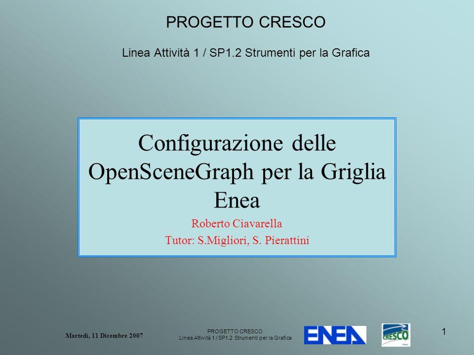 PROGETTO CRESCO Linea Attività 1 / SP1.2 Strumenti per la Grafica Martedì, 11 Dicembre 2007 22