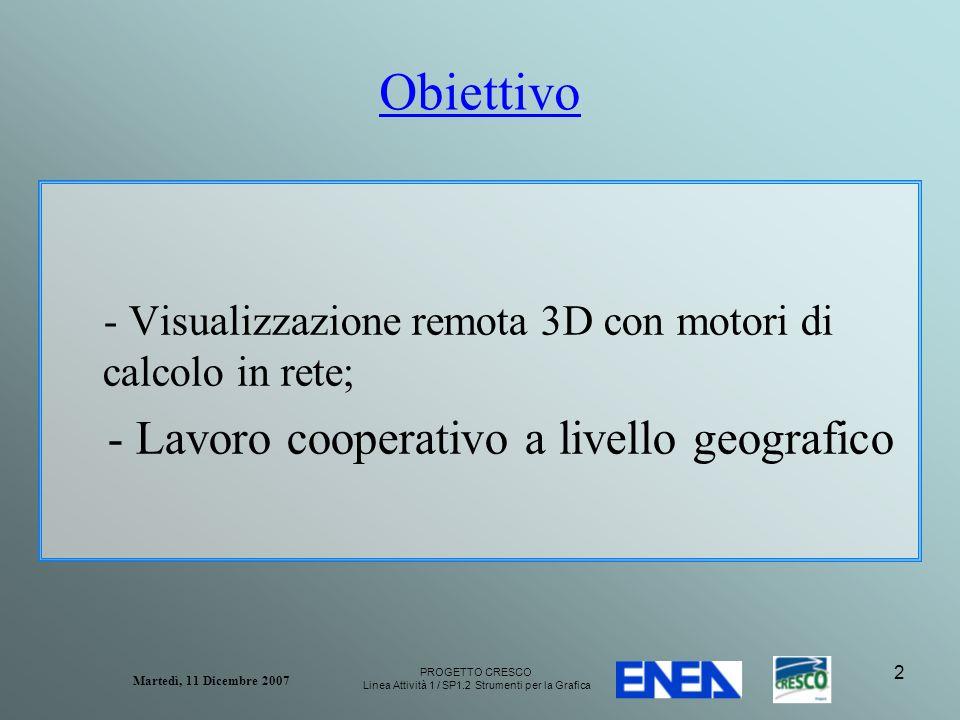 PROGETTO CRESCO Linea Attività 1 / SP1.2 Strumenti per la Grafica Martedì, 11 Dicembre 2007 13 Alcuni esempi