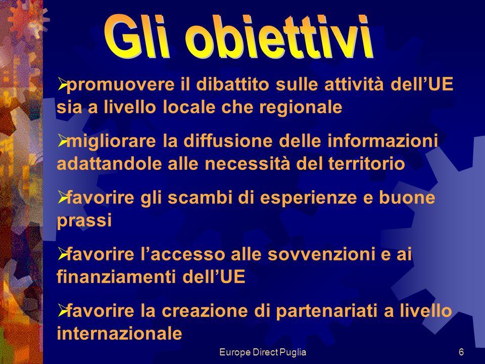 Europe Direct Puglia7 adattare i messaggi a seconda del pubblico e attraverso i canali di comunicazione che il pubblico preferisce