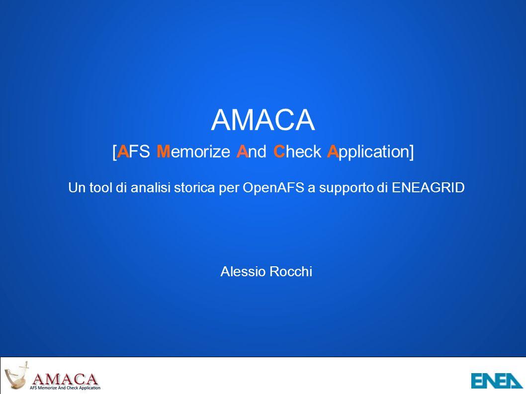 AMACA – Ulteriori allarmi Volumi readonly mai rilasciati Volumi appartenenti a {user.