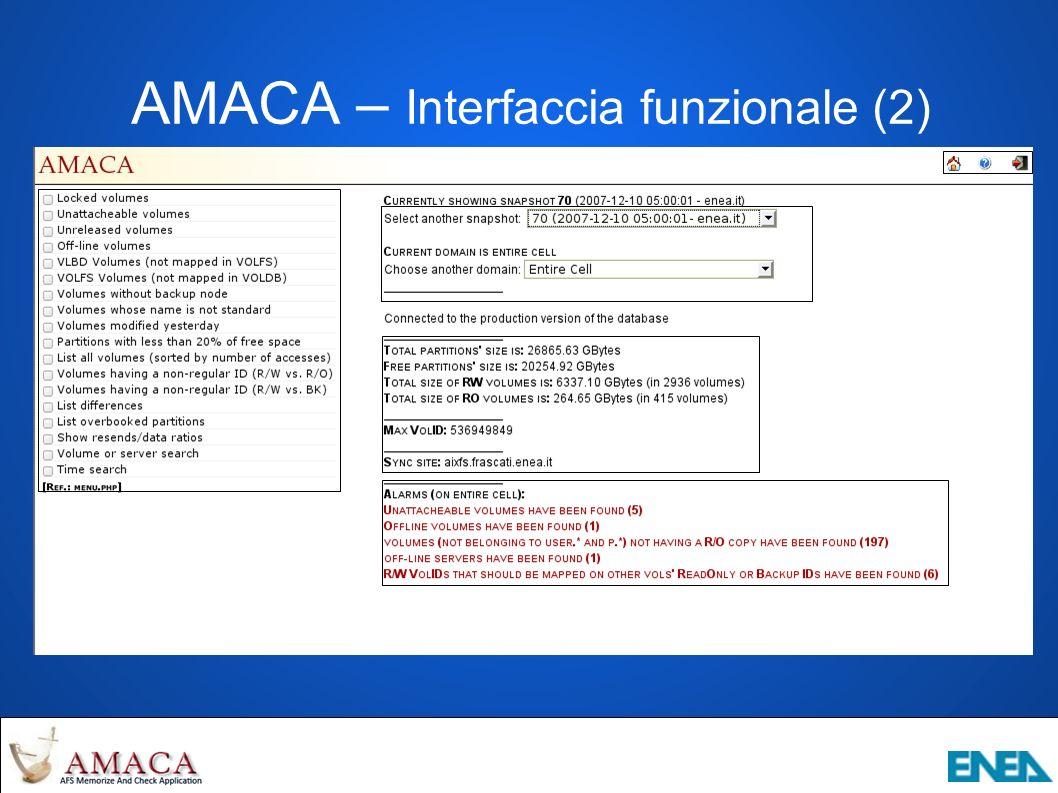 AMACA – Interfaccia funzionale (2)