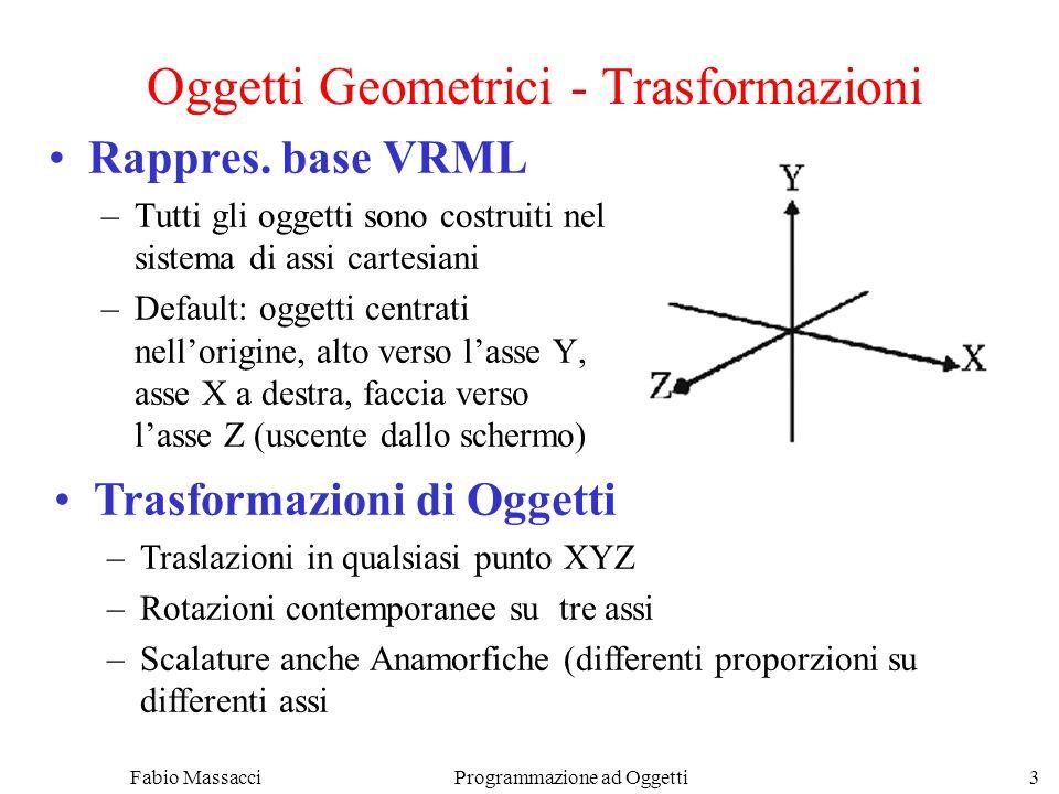 Fabio Massacci Programmazione ad Oggetti 3 Oggetti Geometrici - Trasformazioni Rappres.