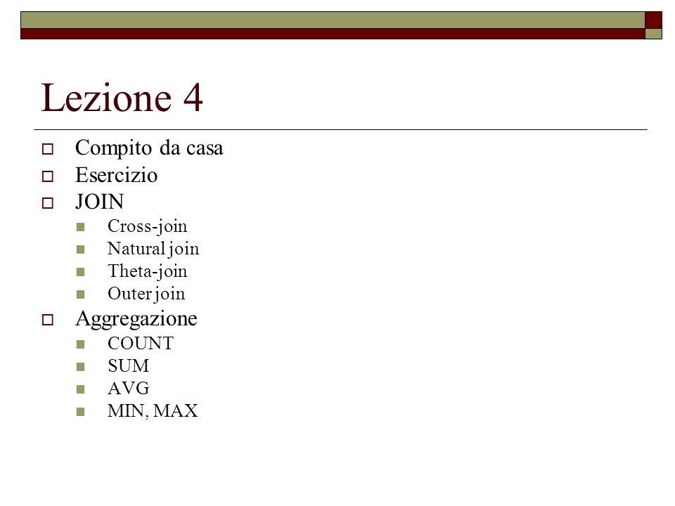 COUNT Visualizzare il numero delle persone registrate nella tabella dellanagrafica che abitano a Milano Anagrafica (Codice, Nome, Indirizzo) Select Count(Indirizzo) From Anagrafica Where Indirizzo=Milano