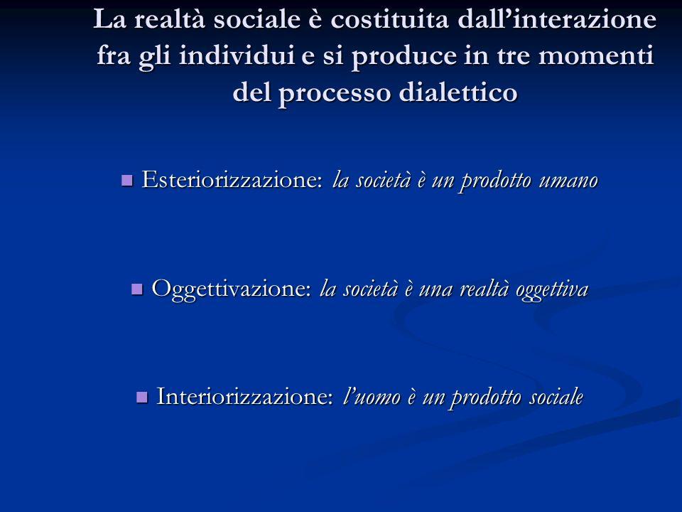 Esteriorizzazione Lesteriorizzazione è una necessità antropologica (Hegel, Marx) Lesteriorizzazione è una necessità antropologica (Hegel, Marx) Gli esseri umani tendono a proiettare nellambiente le proprie rappresentazioni, idee, progetti (conoscenze - scientifiche e non -).