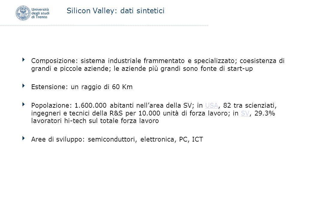 Trentino: Università Alta formazione: –Inizialmente pochi corsi di laurea nei settori high-tech (fisica, ing.