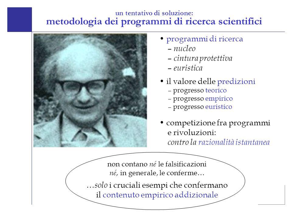 un tentativo di soluzione: metodologia dei programmi di ricerca scientifici competizione fra programmi e rivoluzioni: contro la razionalità istantanea