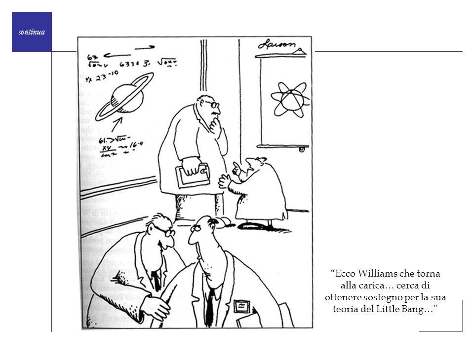 Ecco Williams che torna alla carica… cerca di ottenere sostegno per la sua teoria del Little Bang… continua