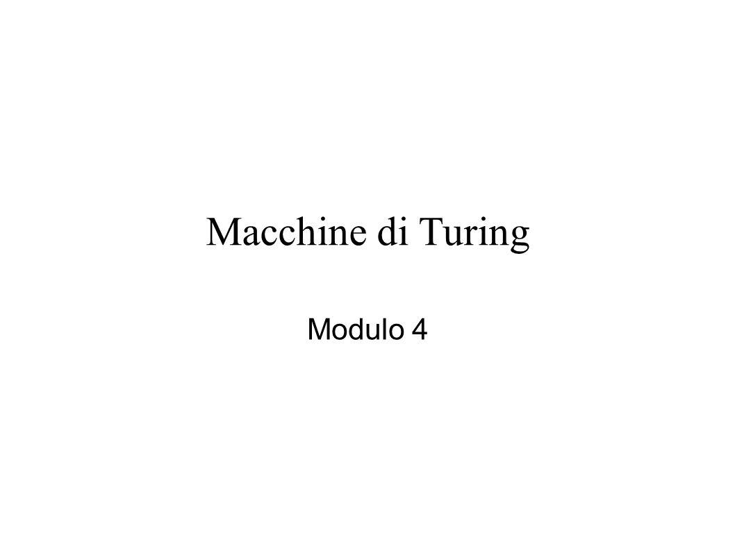 Scopo del modulo 4 Tenteremo di rispondere alla seguente domanda: Si può caratterizzare in maniera rigorosa la classe di tutti gli algoritmi.
