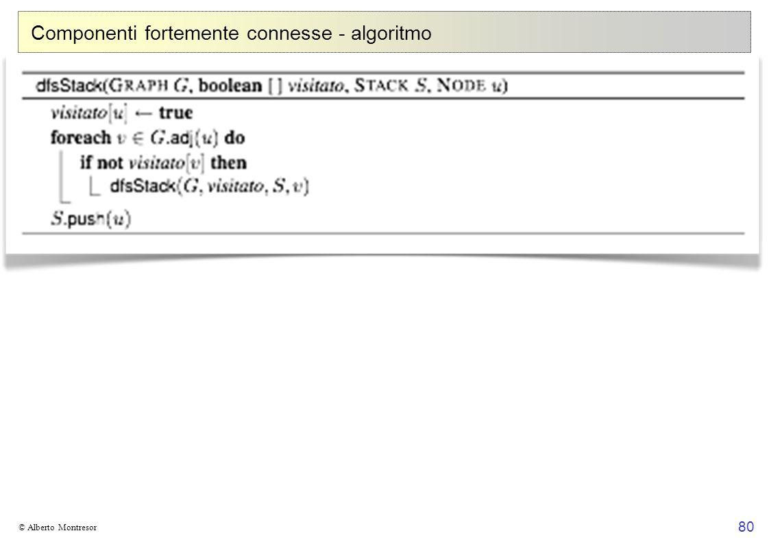 80 © Alberto Montresor Componenti fortemente connesse - algoritmo