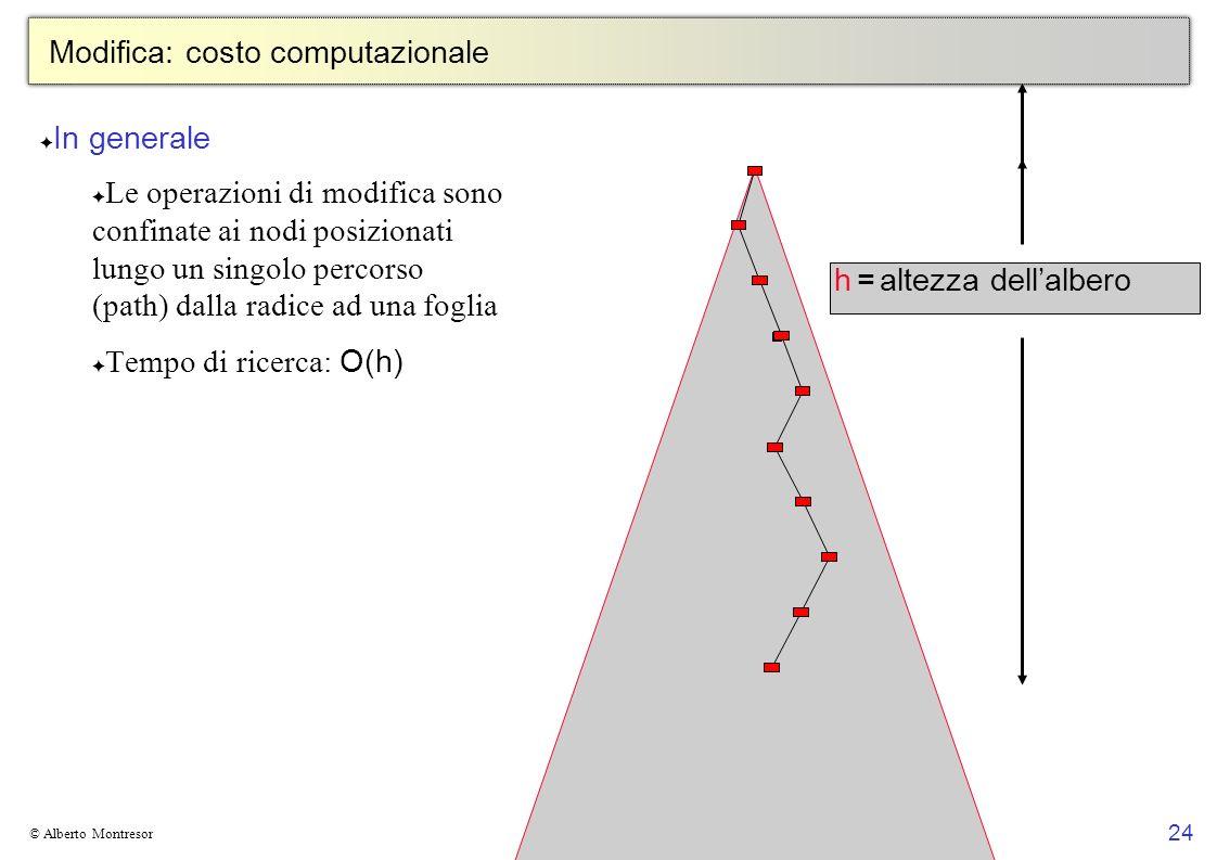 24 © Alberto Montresor Modifica: costo computazionale In generale Le operazioni di modifica sono confinate ai nodi posizionati lungo un singolo percor