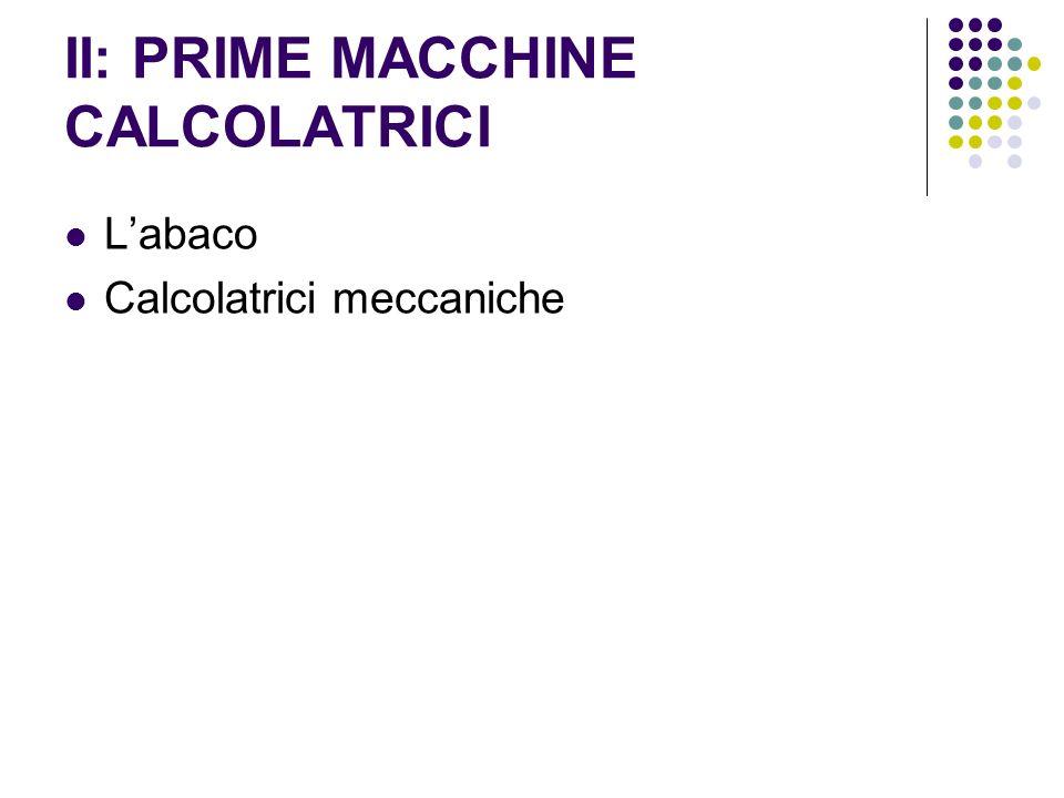 II: PRIME MACCHINE CALCOLATRICI Labaco Calcolatrici meccaniche