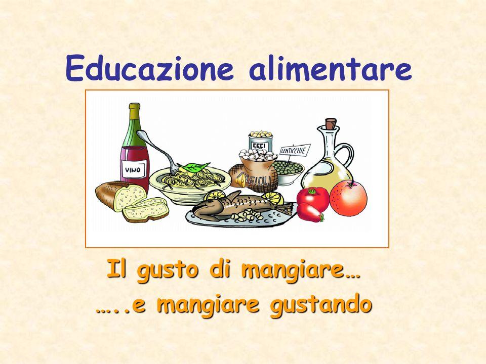 Educazione alimentare Il gusto di mangiare… …..e mangiare gustando