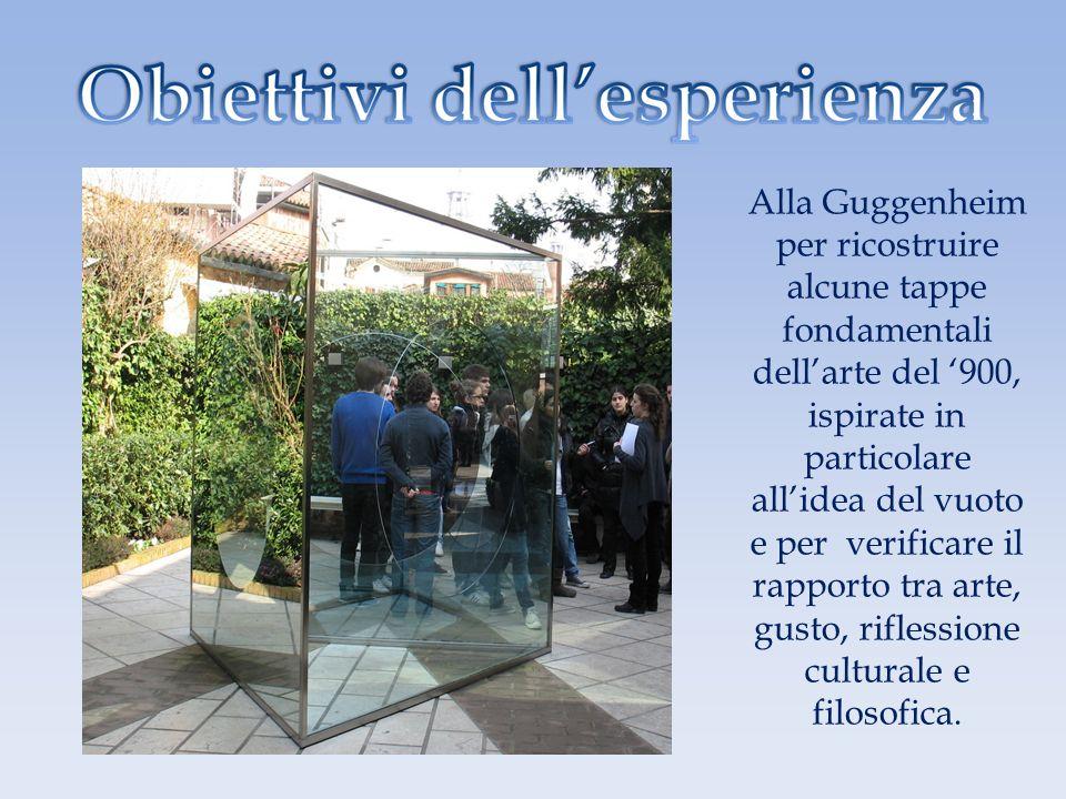 Alla Guggenheim per ricostruire alcune tappe fondamentali dellarte del 900, ispirate in particolare allidea del vuoto e per verificare il rapporto tra
