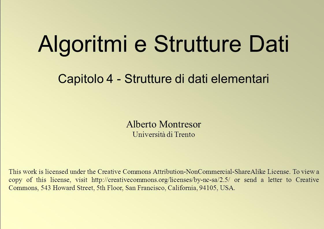 12 © Alberto Montresor Vettori dinamici: contrazione Domande: Quanto costa rimuovere un elemento da una lista.