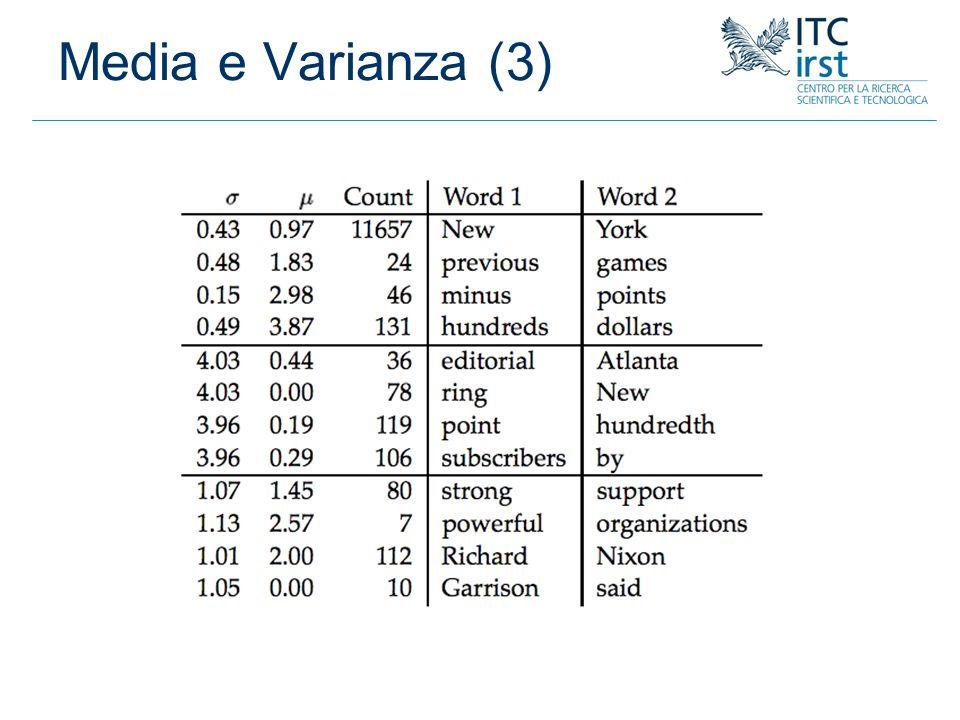 Media e Varianza (3)