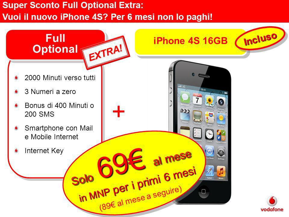 Super Sconto Full Optional Extra: Vuoi il nuovo iPhone 4S.