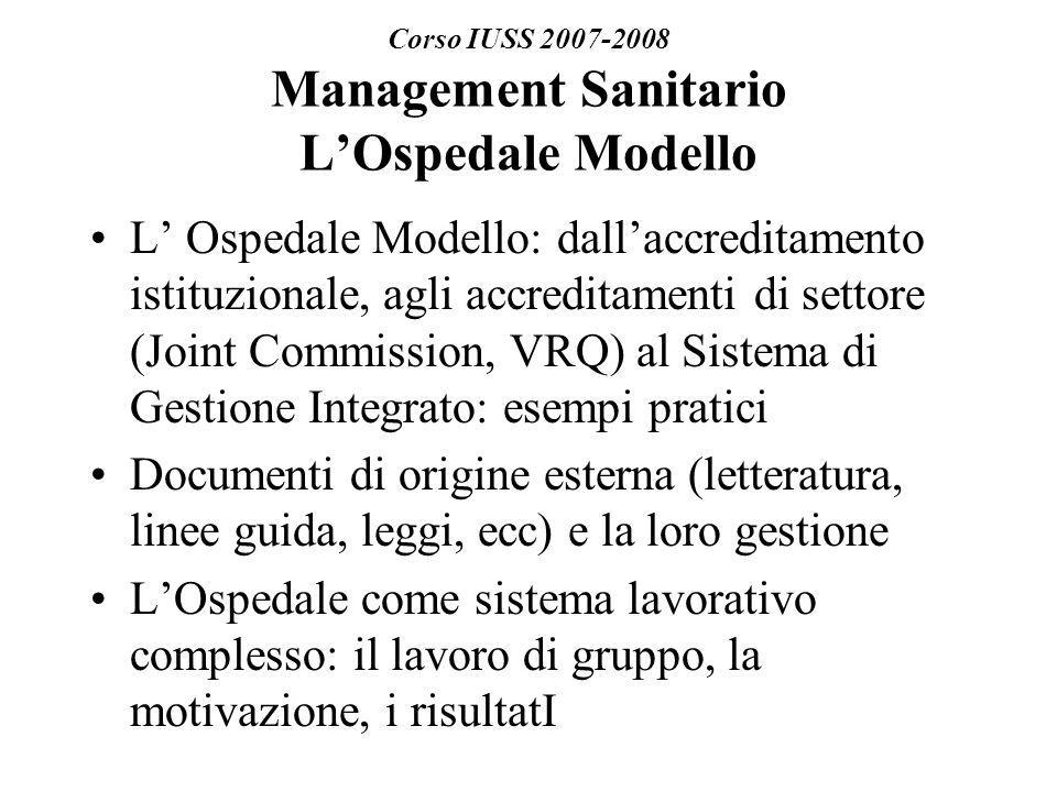 Riferimenti Normativi sulla Qualità ( Decr.del Pres.
