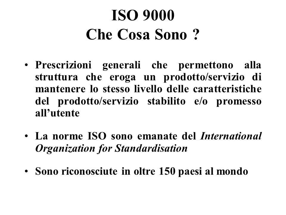 ISO 9000 Che Cosa Sono .