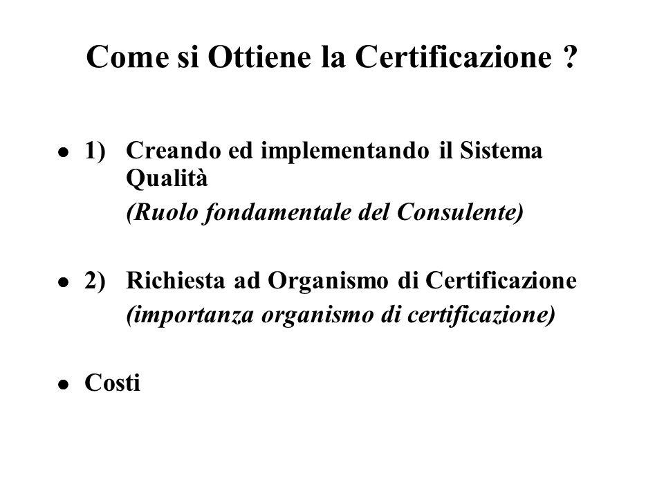 Come si Ottiene la Certificazione .