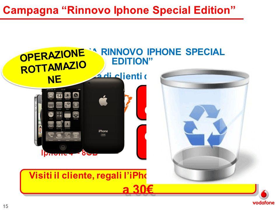 15 Campagna Rinnovo Iphone Special Edition Iphone 4 – 8GB CAMPAGNA RINNOVO IPHONE SPECIAL EDITION (lista di clienti dedicata) GRATUITO ! Full Optional