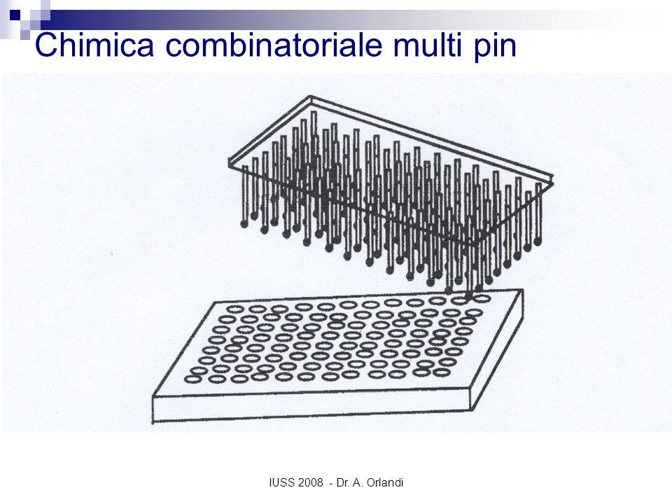 IUSS 2008 - Dr. A. Orlandi Chimica combinatoriale multi pin