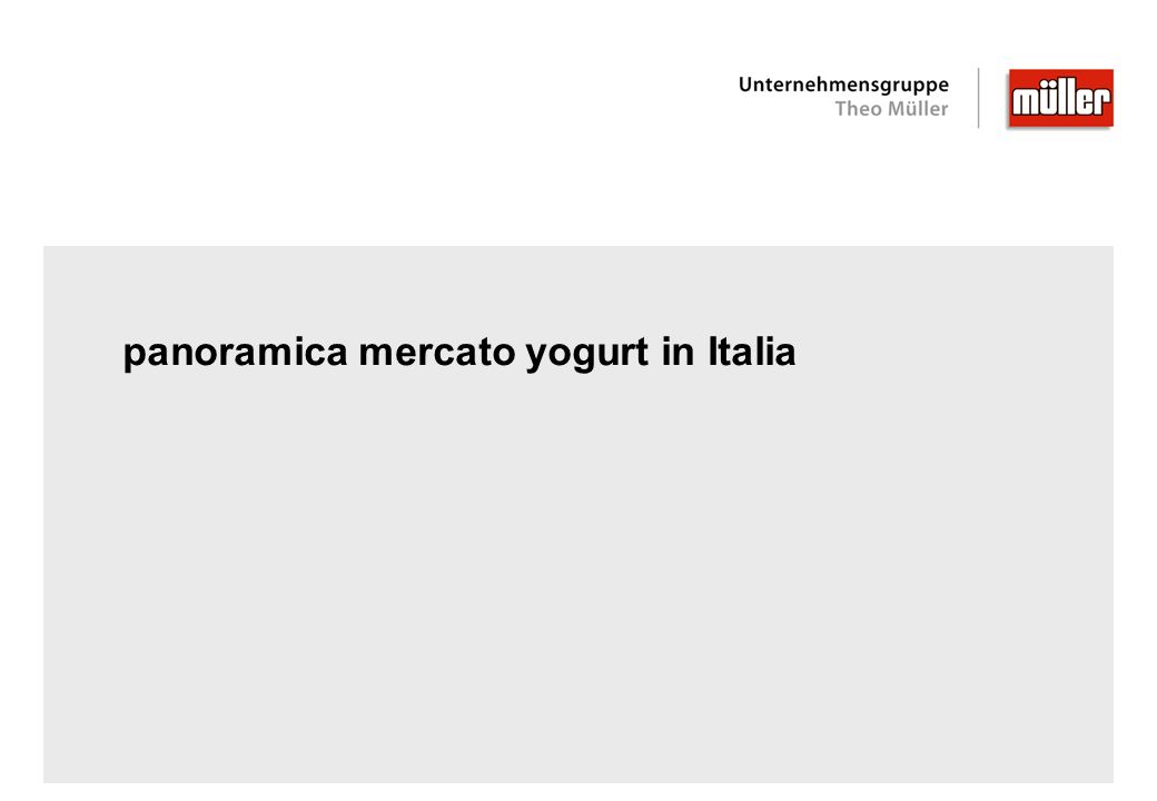 panoramica mercato yogurt in Italia