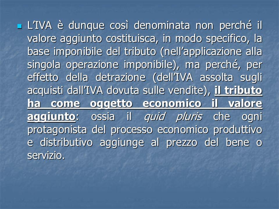 In forza del regime transitorio, pertanto, le vendite tra operatori economici (tra soggetti passivi Iva) allinterno della Comunità sono tassate a carico del compratore, ossia nello Stato di destinazione.