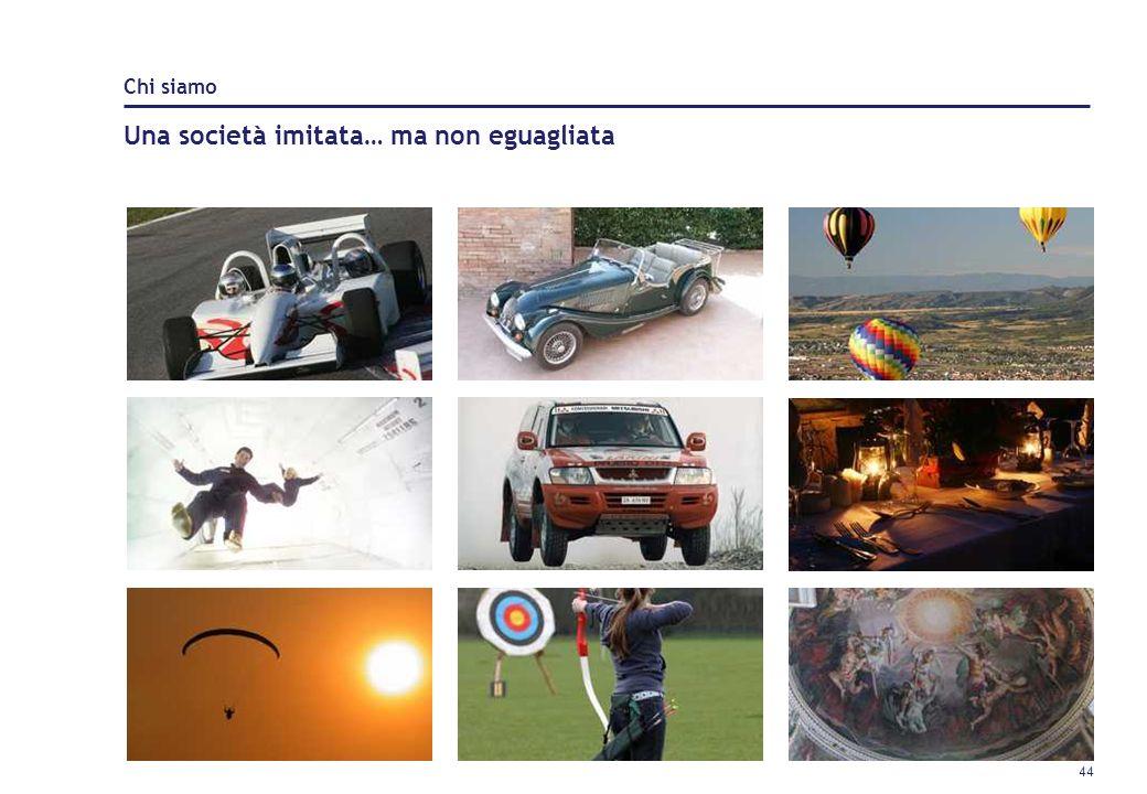 43 Un osservatorio interno che studia e analizza i sogni e di desideri degli italiani suddivisi per profili psicografici Un software che analizza, mon