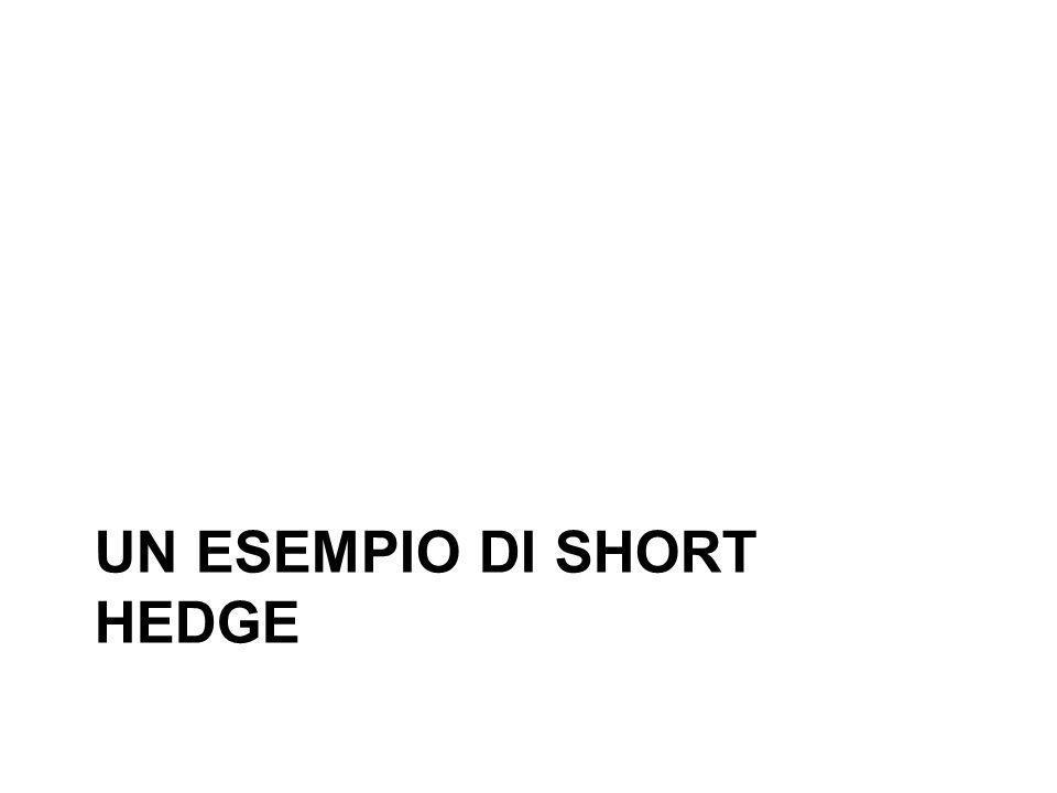 UN ESEMPIO DI SHORT HEDGE