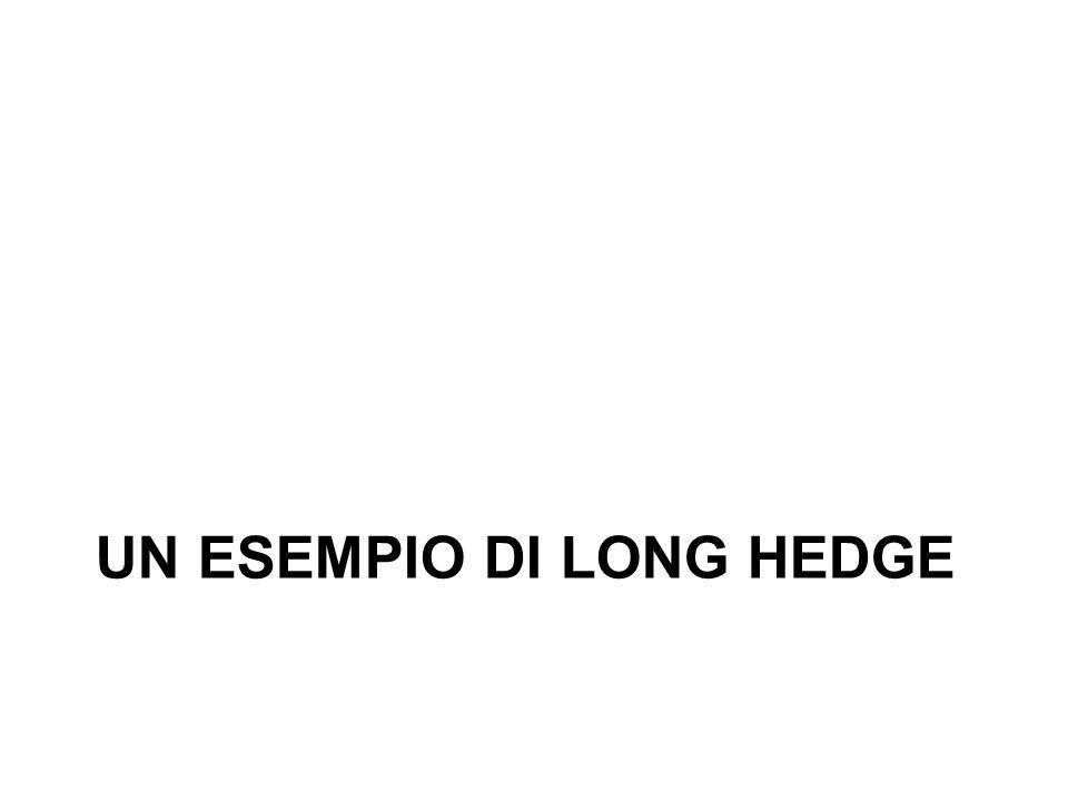 UN ESEMPIO DI LONG HEDGE