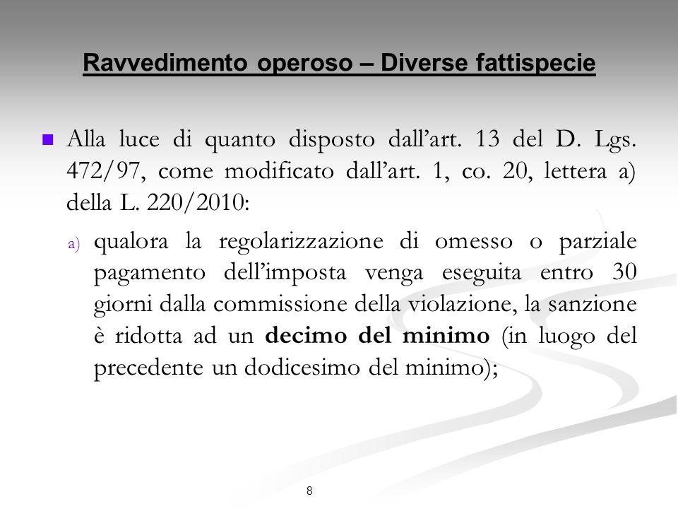Acquiescenza – Quadro normativo Ai sensi dellart.15 del D.Lgs.