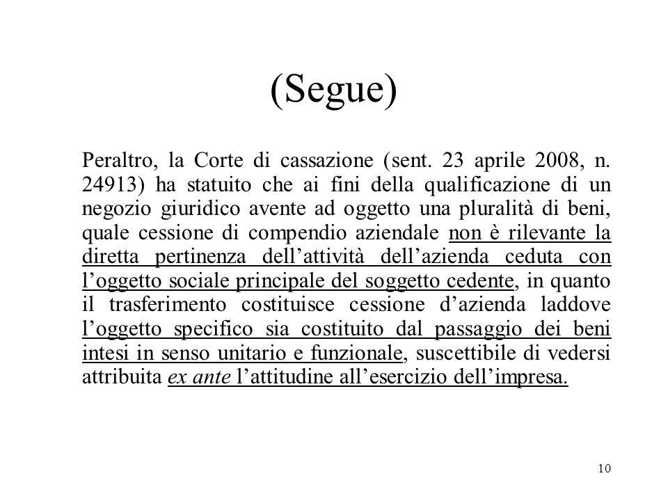 9 (Segue) Contra si veda Bando di gara per lacquisto di uno o più rami di azienda di Alitalia Linee Aeree italiane S.p.A. anche non preesistenti.