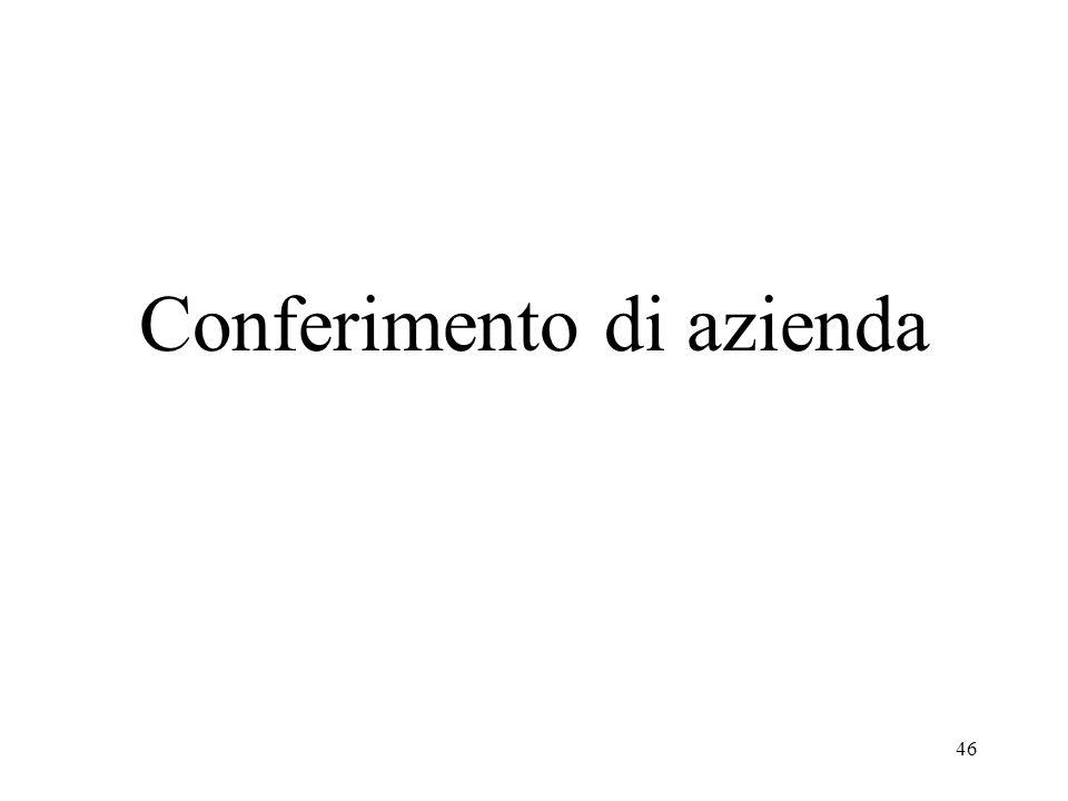 45 (Segue) - Nel caso di apporto effettuato da soggetto Irpef non imprenditore o, comunque, al di fuori dellesercizio dellattività di impresa, potrà r