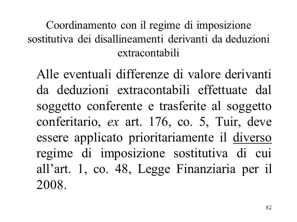 81 Le aliquote dellimposta sostitutiva Limposta sostitutiva si applica: -con laliquota del 12% sulla parte dei maggiori valori complessivamente ricomp