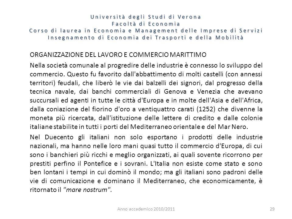 29 Università degli Studi di Verona Facoltà di Economia Corso di laurea in Economia e Management delle Imprese di Servizi Insegnamento di Economia dei