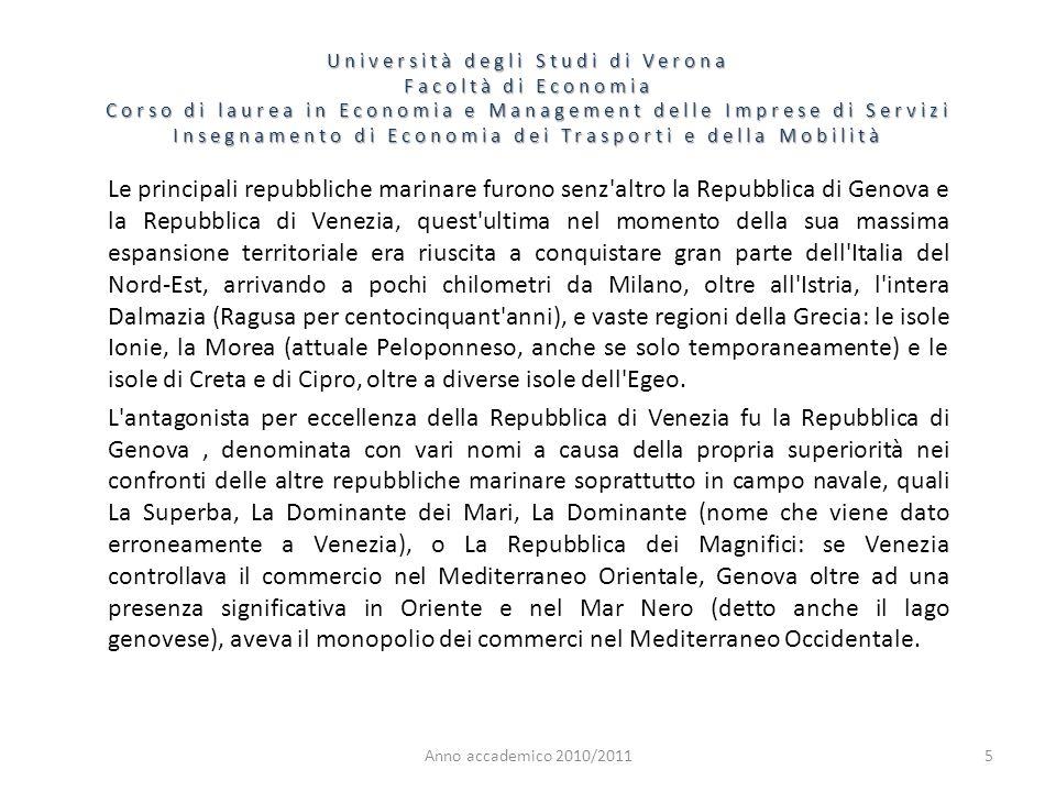 5 Università degli Studi di Verona Facoltà di Economia Corso di laurea in Economia e Management delle Imprese di Servizi Insegnamento di Economia dei