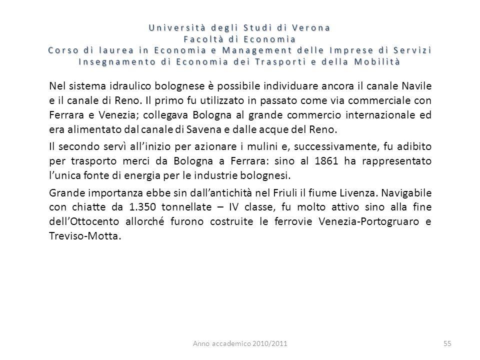 55 Università degli Studi di Verona Facoltà di Economia Corso di laurea in Economia e Management delle Imprese di Servizi Insegnamento di Economia dei