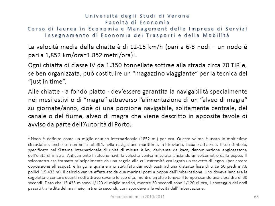 68 Università degli Studi di Verona Facoltà di Economia Corso di laurea in Economia e Management delle Imprese di Servizi Insegnamento di Economia dei