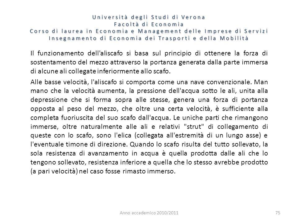 75 Università degli Studi di Verona Facoltà di Economia Corso di laurea in Economia e Management delle Imprese di Servizi Insegnamento di Economia dei